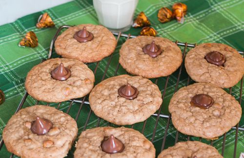 Butterscotch Oatmeal Caramel Kiss Cookies | Recipe