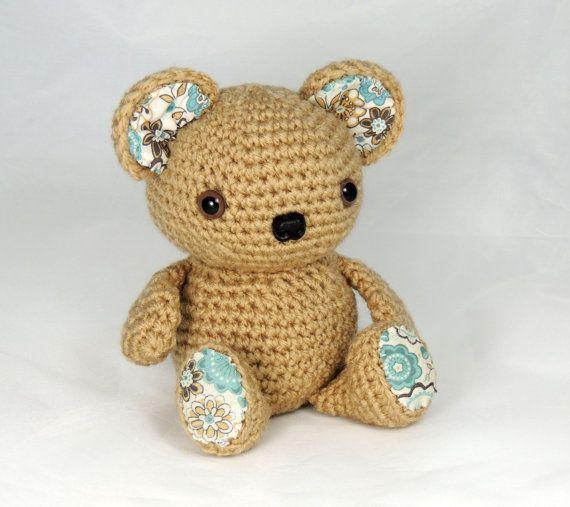 Amigurumi Crochet Bear Kora with Safety Eyes