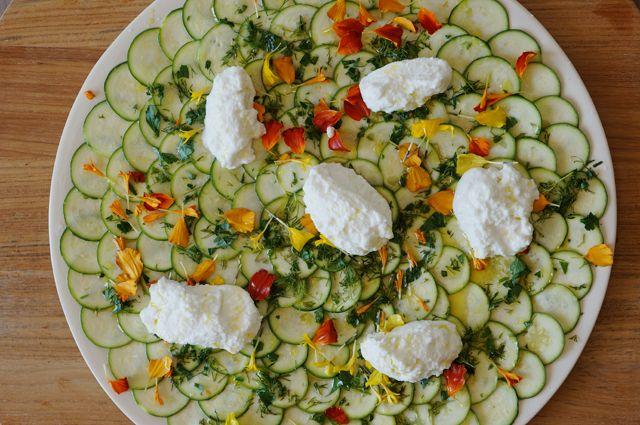 Zucchini Carpaccio | Foods to Eat | Pinterest
