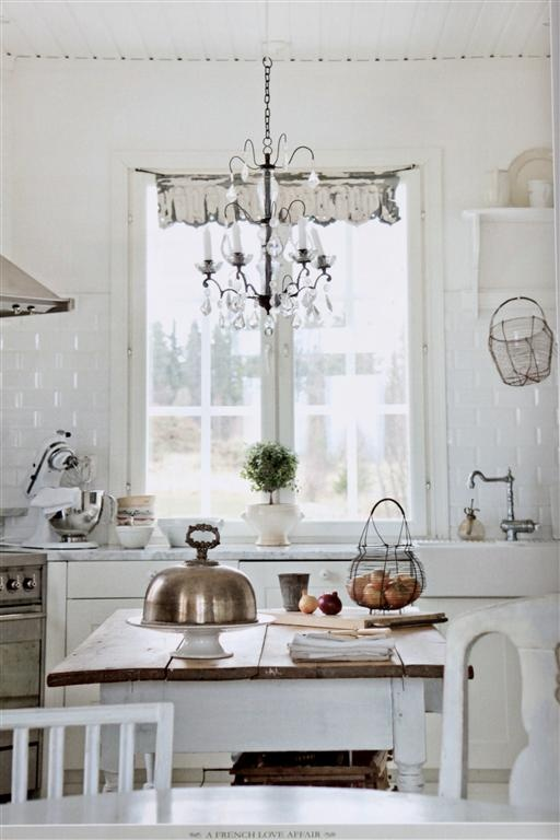 gorgeous white kitchen