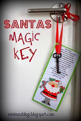 santas magic key ~ if you don't have a chimney