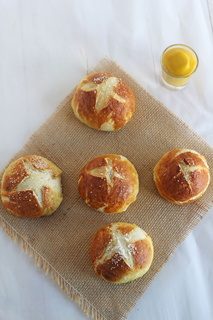 Pretzel Rolls - Golden brown, soft on the inside, crunchy on the ...