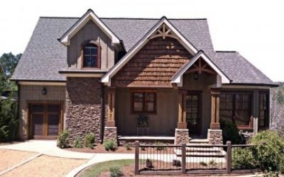 Love the golf cart garage fairytale home pinterest for Lake house plans with garage