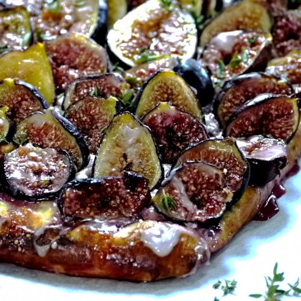 Fig and goat's cheese tart | Tea Time | Pinterest