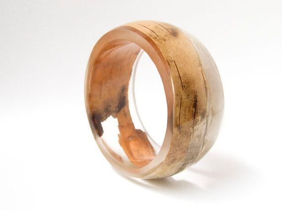 birch bark resin bangle