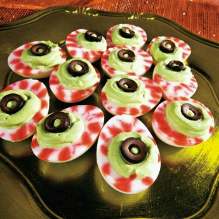Deviled eggs | Halloween Crafts, etc. | Pinterest