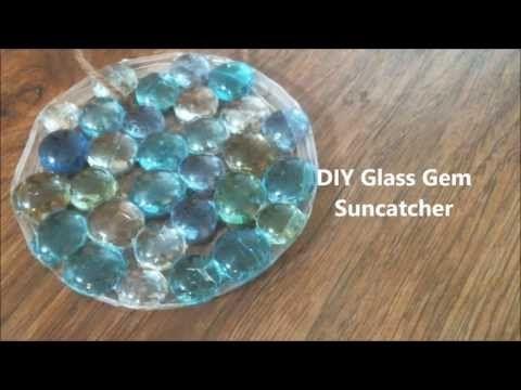 Diy glass gem suncatcher youtube crafts diy pinterest for Glass jewels for crafts