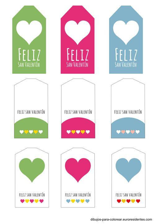 etiquetas San Valentin para imprimir