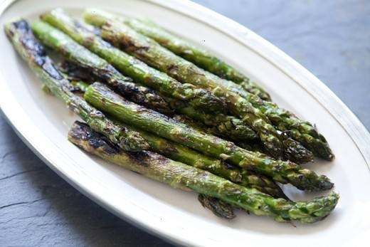 grilled asparagus. i like to drizzle a little jalapeno ranch over them ...