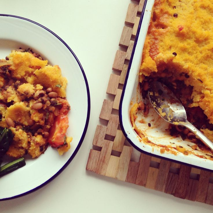 ... With the Omnivores: Vegan Pumpkin Chili with polenta cornbread topping
