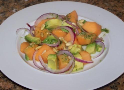 Cantaloupe And Avocado Salad With Honey-Lime Dressing ...