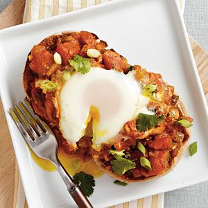Eggs Poached in Curried Tomato Sauce | CookingLight.com