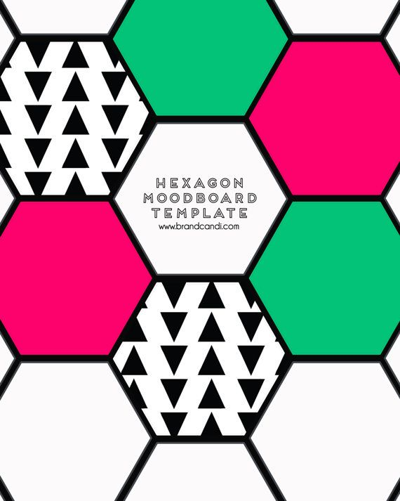 ... DOWNLOAD! Hexagon Template - Moodboard Template - Inspiration