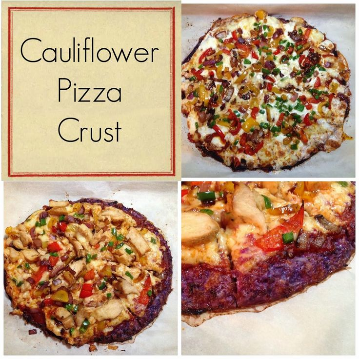 My Eating Clean Journey: Purple Cauliflower Pizza Crust #eatclean ...