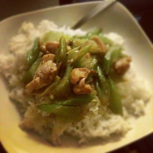 Chicken and celery stir fry | Low carb foods | Pinterest