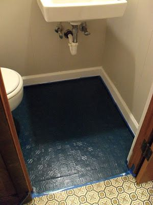 Painting Bathroom Floor Linoleum