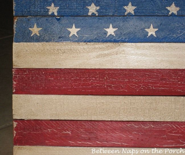 how to antique a flag