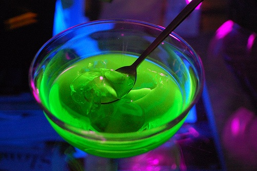 glowing jello | Glow In The Dark Party | Pinterest