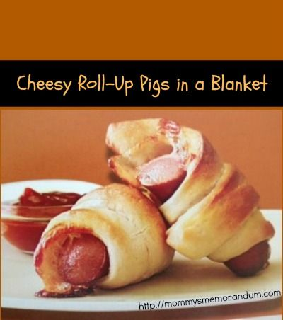 Roll Up Pigs in a Blanket recipe, you could skip the cheese and use ...