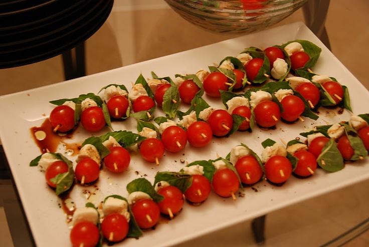Caprese Salad Skewers. #paleo | yummi | Pinterest