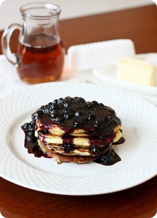 Lemon Ricotta Pancakes with Blueberry Sauce (via @Brandy Clabaugh ...