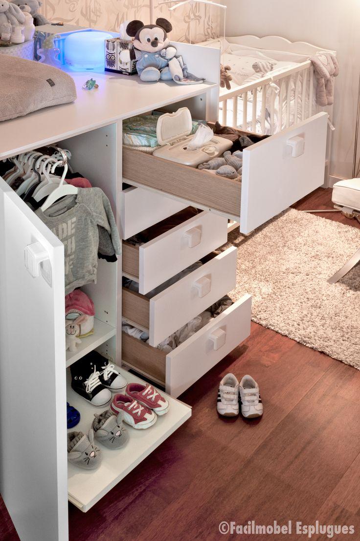 Barra extraible de fondo 90cm estante extraible para - Como hacer un mueble cambiador de bebe ...