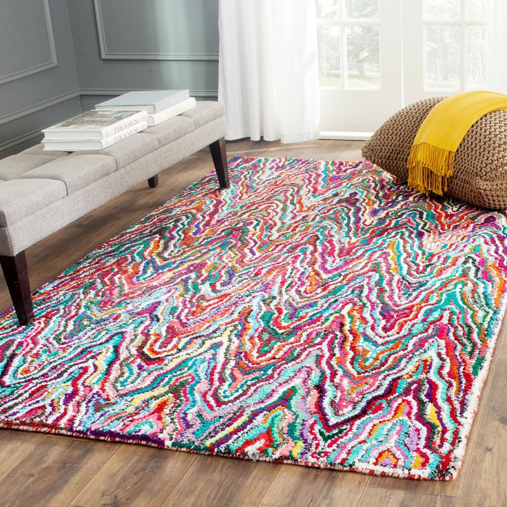 Safavieh Handmade Nantucket Multicolored Cotton Rug (6' x 9') | Overstock™ Shopping - Great Deals on Safavieh 5x8 - 6x9 Rugs