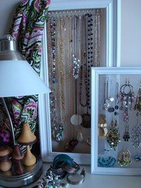 Jewerly display frames. Perfect if you are short on space.