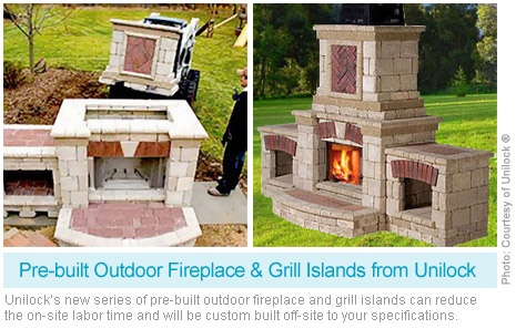Pre Built Unilock Fireplace Tuscan Style Pinterest