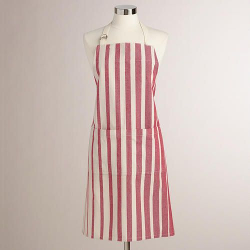 One of my favorite discoveries at WorldMarket.com: Red Ombre Stripe Apron