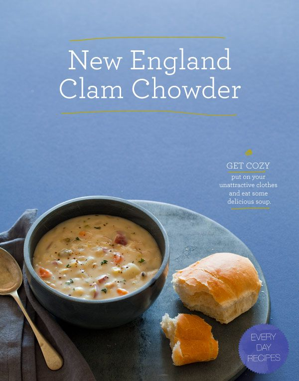 ... , than with a nice warm bowl of New England Clam Chowder! #NFL #NBC