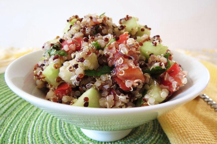 Cucumber and Tomato Quinoa Salad | Recipe