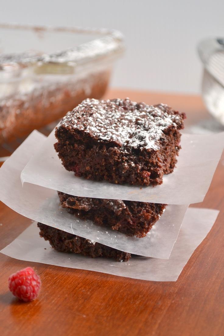 Chocolate Raspberry Brownies - vegan
