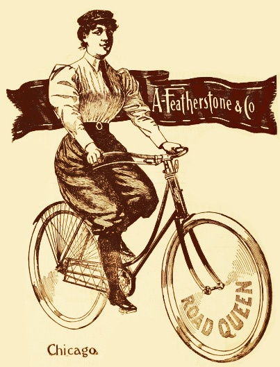 Be a road queen with a Featherstone Bicycle! (Ad from1895.) #vintage #Victorian #ads #bikes