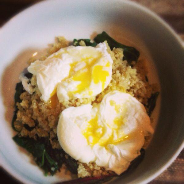Truffle Eggs, Greens and Quinoa Recipe