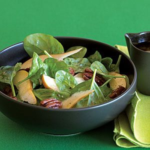Candied Pecan, Pear, and Spinach Salad. The salad is good, but the ...