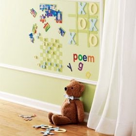 Magnetic wall paint!