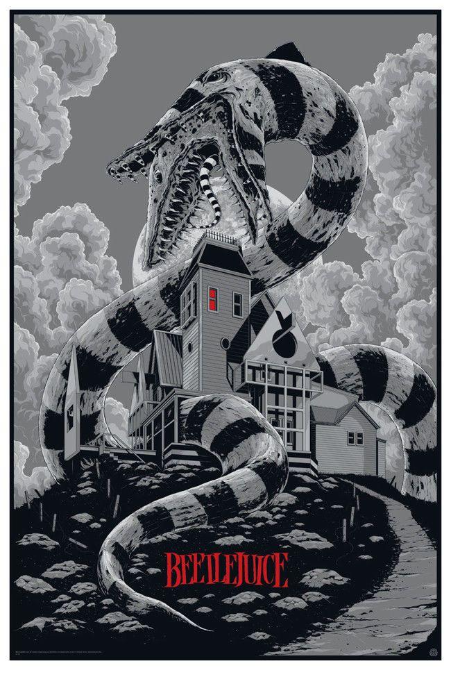 Beetlejuice Variant Movie Poster Ken Taylor Mondo Print ...
