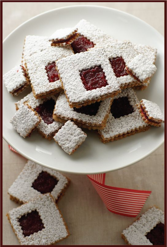 "Cranberry Linzer Cookies from ""Today's nest"" 