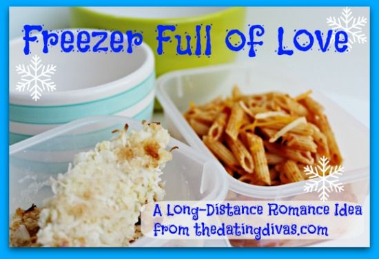 Going out of town and leaving your honey at home? Leave your love in the freezer with yummy meals and cute free printables to attach to them. www.TheDatingDivas.com #freezermeals #longdistancelove #lovenotes