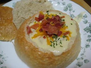 Crockpot Potato Chowder. Okay so it's not lowfat, but you gotta cheat ...