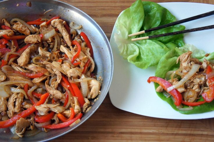 Healthy Chicken Stir-Fry Wraps | Eat it! | Pinterest