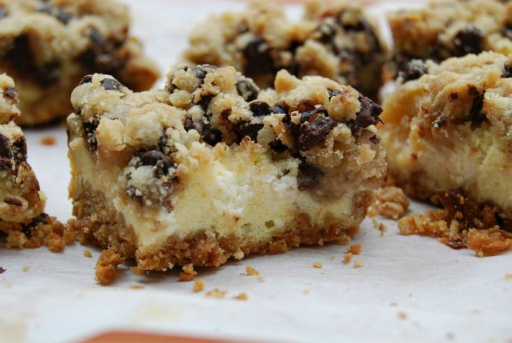 Cookie Dough Cheesecake Bars | Food - Bars | Pinterest