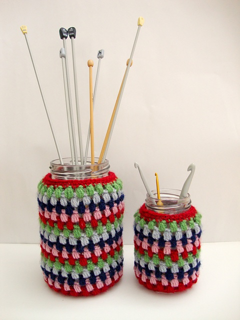 Ravelry: Crochet Jar Cover pattern by Eaden Yarns--free pattern to use ...