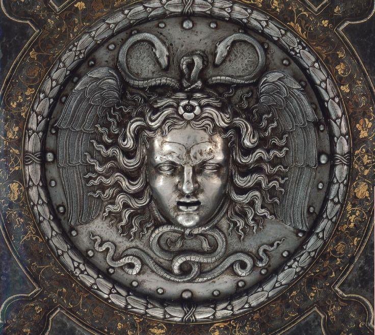 Francesco Negroli Medusa Shield of Charles V, Steal, Gold & silver ...: http://pinterest.com/pin/35254809555206899/