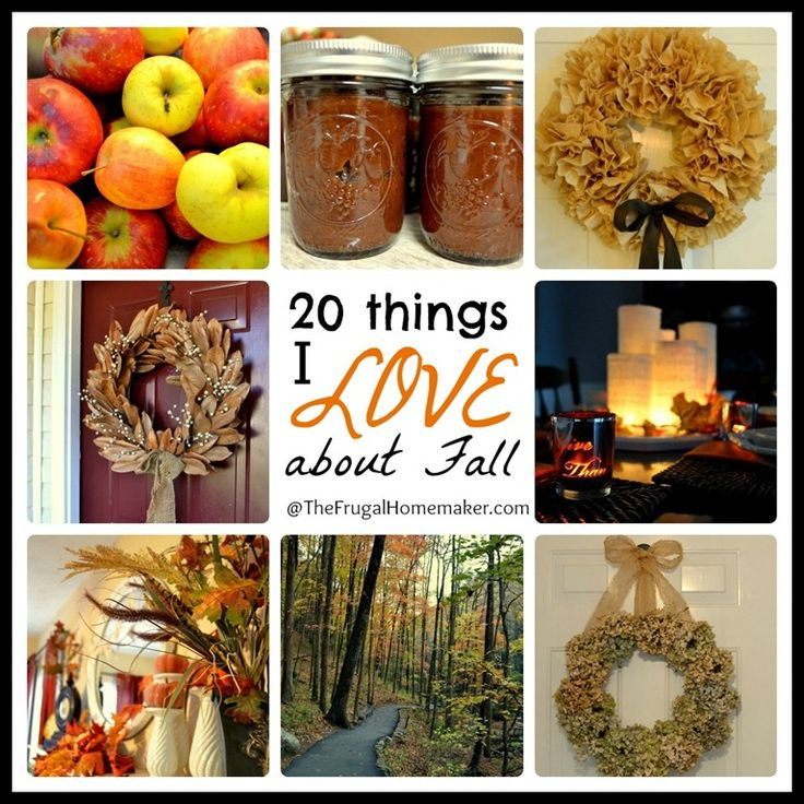 20 things I love about fall - inspiration, decor and more via The Frugal Homemaker