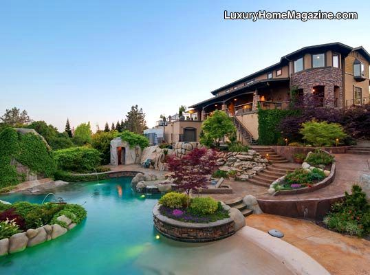 Luxury Backyard Pools : Pin by Camila on Ideas For The Home  Pinterest