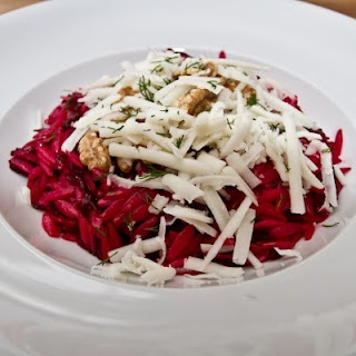Beetroot, Walnut and Orzo 'Salad' with Dill Dressing