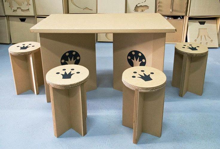 Как из картона сделать стол и стул