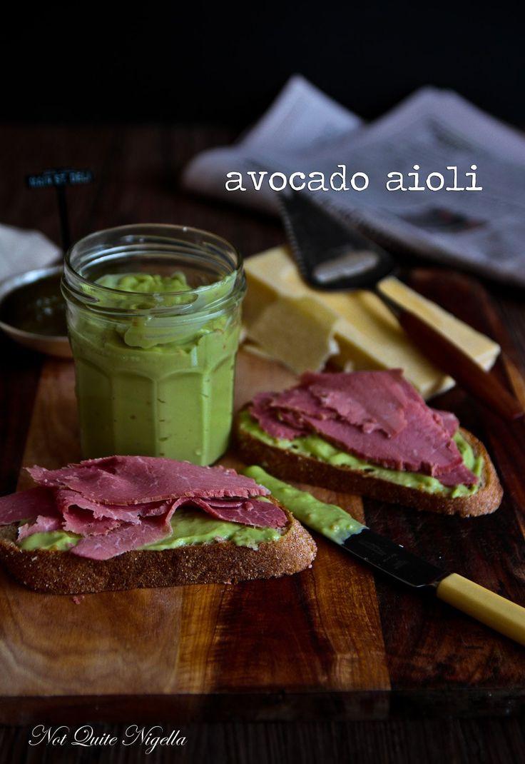 Avocado Aioli Recipe | F o o d | Pinterest